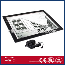 2015 nueva marca A4 copia del tablero cajas ligeras de la almohadilla de seguimiento