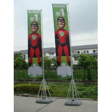 Iklan Rectangular Lipat Banner Beach Flag
