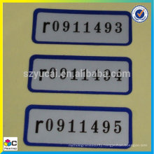 latest new model wholesale polyester panel labels