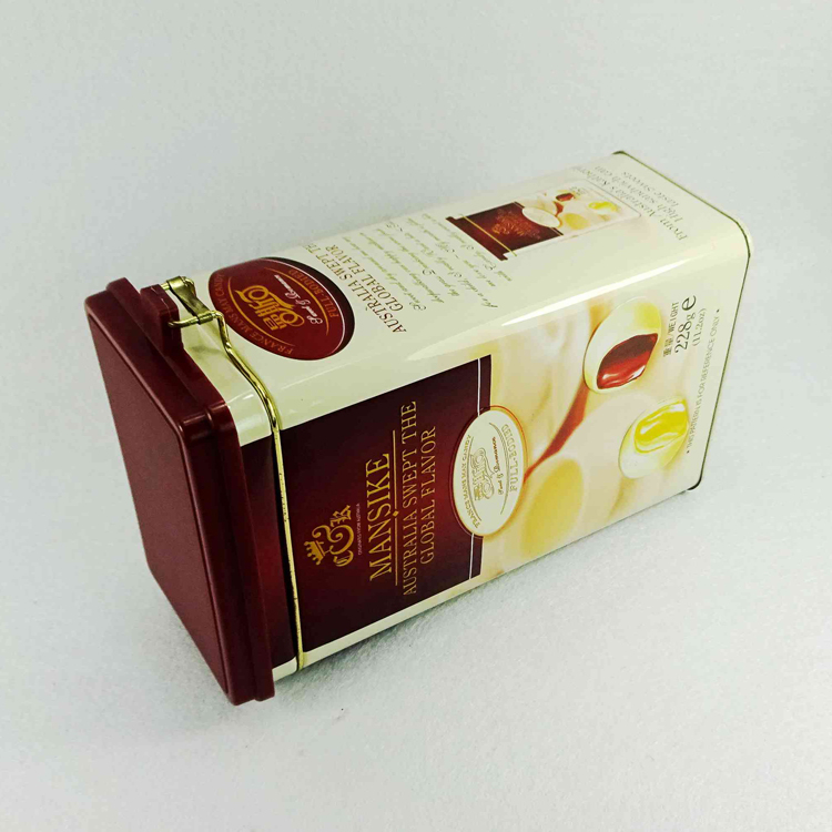 Coffee Packaging Tin Can Hinged Tin Box