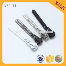 MZP71 High quality colorful auto lock garment metal zip puller with slider