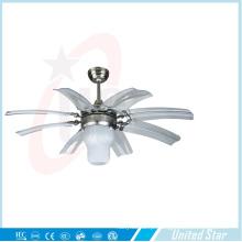 Seis lâminas de 42 polegadas ventilador de metal decorativo elétrico
