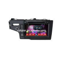 Venta caliente !! Sistema de navegación de audio para coche dvd, Bluetooth, MIRROR-CAST, AIRPLAY, DVR, Juegos, Zona dual, SWC para honda fit 2014