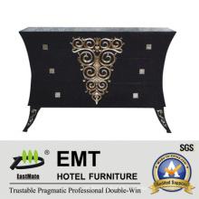 Черный Изысканный деревянный шкаф Living Room Декоративный шкаф (EMT-DC04)