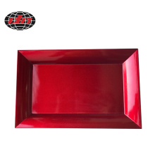 Rouge Classic Rectangle Glitter Plastic Charger Plate