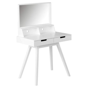 White Modern Dressing Table & Mirror White Modern Dressing Table & Mirror