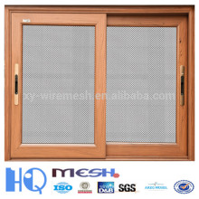 black wire crimped window mesh