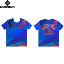 sublimated print logo Custom T Shirt Printing factory price dry fit t shirt
