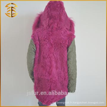 Vente en gros OEM Service Custom Brand Jacket Army Real Fox Fur Parka