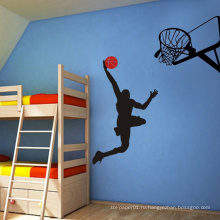 Украшение дома Баскетбол Печать Дети Стены ПВХ Съемный Декор Стикер
