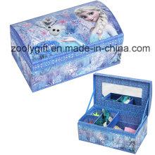 Boîte cadeau de rangement de papier bijoux populaire avec diviseurs et miroir