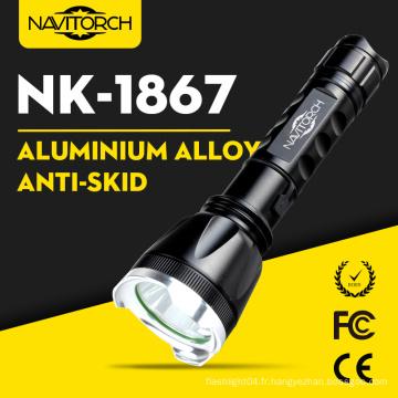 Aluminium Alloy CREE XP-E LED à main rechargeable lampe de poche LED (NK-1867)