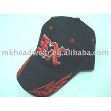 Gorra de béisbol con logotipo de plástico en el pico
