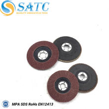 Disco de aleta no tejido abrasivo de tela de calidad superior para pulir