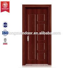Puerta de casa puerta de dormitorio barato, diseño de puerta de madera barata