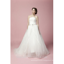 Newest Glamorous Embroidered A-Line Sweetheart Neckline and Sleeveless Floor-Length Lace Wedding Dress AS28102