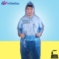 Promo emergency disposable poncho clear plastic rain suit