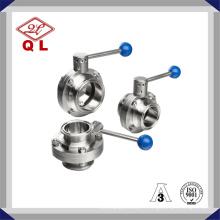 304 / 316L Valve papillon soudée à membrane en acier inoxydable sanitaire