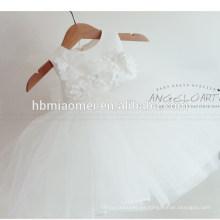 Largo y más barato de encaje blanco bebé cumpleaños Bautismo niña vestido bebé 1 año viejo vestido de fiesta