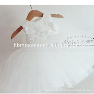 Lang und preiswertestes Spitze-weißes Baby-Geburtstagstaufe-Mädchen-Kleid-Baby-1-jähriges Partei-Kleid