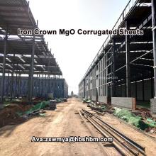 Korrosionsbeständige MgO-Dachbahnen für die Chemiefabrik