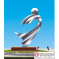 Plaza Hand Carved Stainless Steel Sculpture