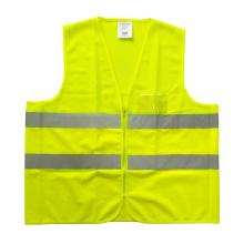 Fluoreszierendes gelbes Netz und massive reflektierende Sicherheitsweste mit PVC-Tasche