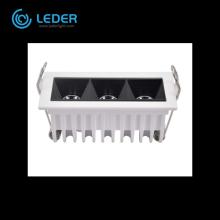 LEDER Luz Linear com Lado Estreito Branco 2W * 3