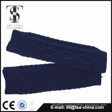 Winter women's long cuff pattern knitting gloves