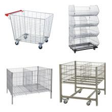 Maschendraht-Rolling Metal Storage Cage
