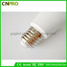 Fábrica de Guangzhou Quente Branco LED E27 / E14 / B22 Lâmpada LED Lâmpada Atacado