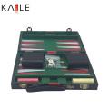 11 inch leather backgammon set