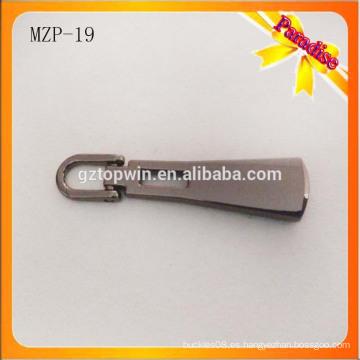 MZP19 Hign calidad metal negro cremallera / Custom cremallera tirador / cremallera deslizante