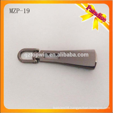 MZP19 Hign quality black metal zipper/Custom zipper puller/Zipper slider