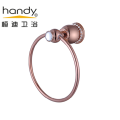 Round Bathroom Accessories Brass Towel Ring