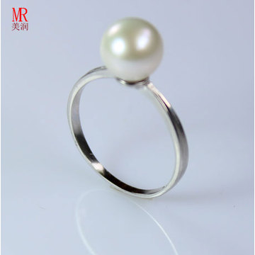 8-9mm 925 Solid Silver Real Natural Pearl Ring (ER1601)