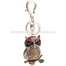 wholesale custom keychains rhineston owl keychain zinc alloy keychain