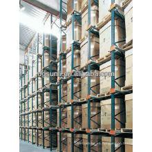conducir en tormento resistente sistema almacén estante/estantes de la plataforma