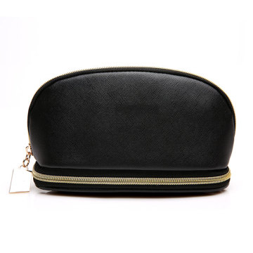 Liten PU-läder kvinnor Makeup Cosmetic Pouch Bag
