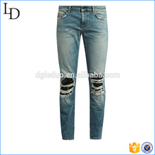 Fading latest wholesale customized direct factory mens jeans
