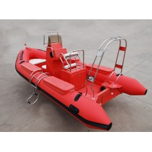 4.2m High Quality Fiberglass Rowing Boat Inflatable Boat Small Rib