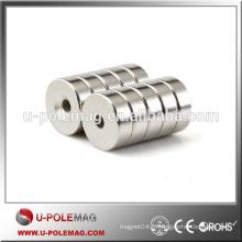 N48 15 x 5 mm Hole 5mm Aimants à billes fraîches en néodyme