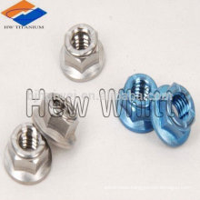 colorful titanium hex nuts