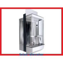 Visor LCD de tamanho padrão e abertura central para elevador panorâmico