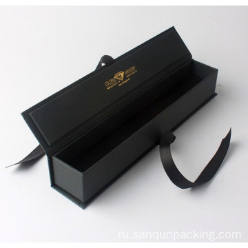 Black+matte+paper+box+with+ribbon