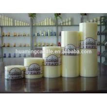Velas Huaming / velas de pilar blanco al por mayor / vela pilar grande para la decoración del hogar