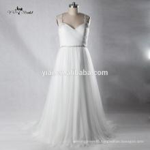 RQ135 Alibaba Romantic Chiffon Vintage Crystal Sash Beach Casual Chiffon Wedding Dress Patterns