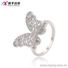 El último anillo de la mujer de la joyería de la rodio de la mariposa CZ fresca -13665