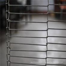 Ceinture de convoyeur à mailles équilibrée en acier inoxydable alimentaire garde-manger