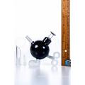 Mini Black Ticking Bomb Dabbing Oil Rig Glass Water Pipes (ES-GB-375)